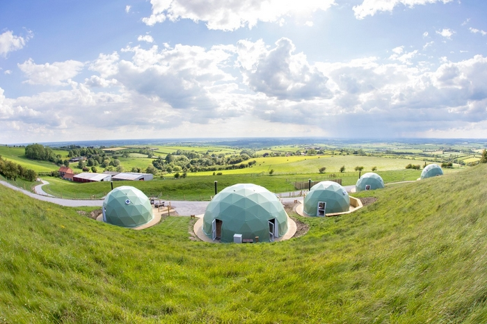 The domes at the Private Hill's location