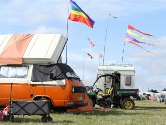 Campervan at Towersey Festival