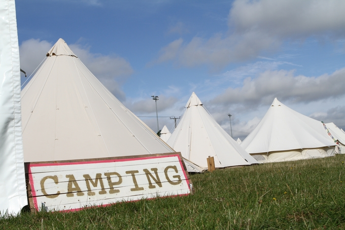 Camping tents at Towersey Festival