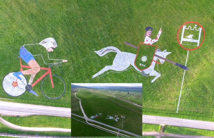Racing land art