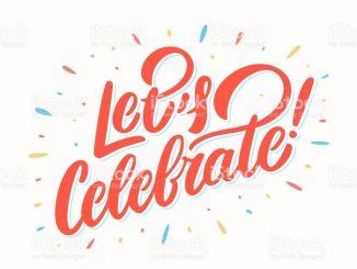 Let's celebrate banner