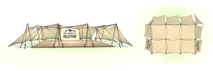 Hunter outdoors tent drawing