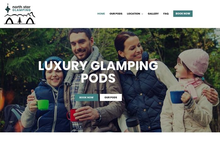 North star glamping website