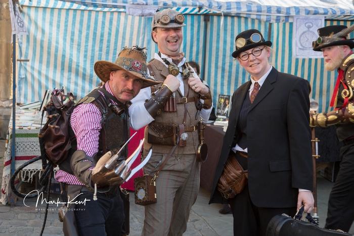 Men attending The Asylum festival