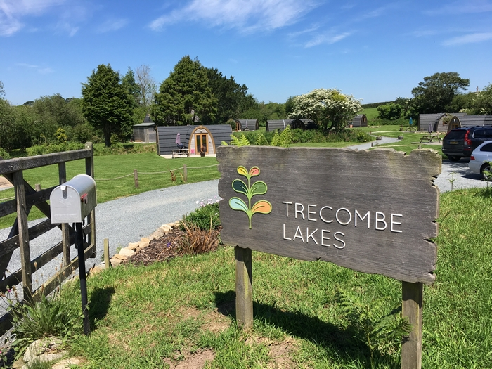 Trecombe Lakes front sign
