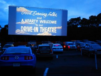 Drive in cinema at a venue