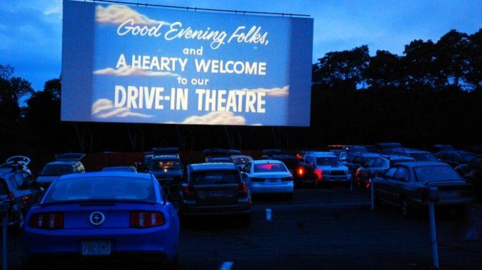 Drive in cinema at a venue