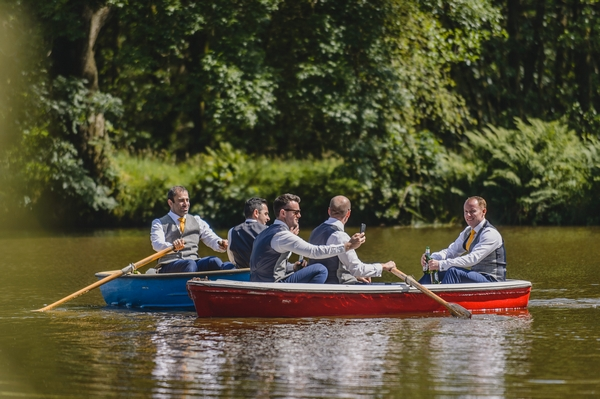 People on a boat ride at Browsholme Hall