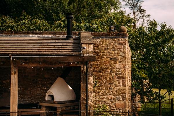 Browsholme Hall outside oven