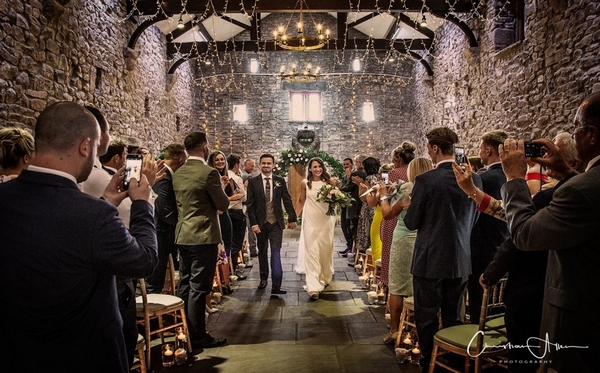 Wedding ceremony at Browsholme Hall