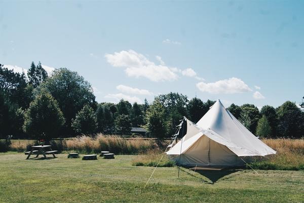 Landscape at bell tent camp