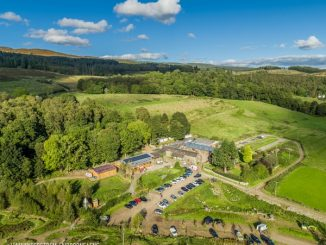 Aerial shot of Comrie Croft