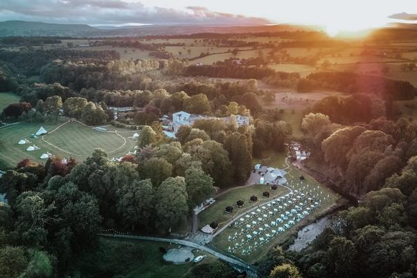 Gisburne Park estate aerial view