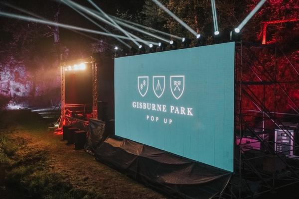 Gisburne Park estate big screen