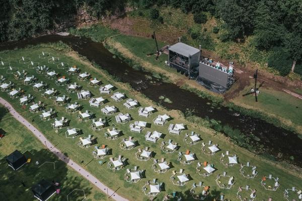 Tents at Gisburne Park estate