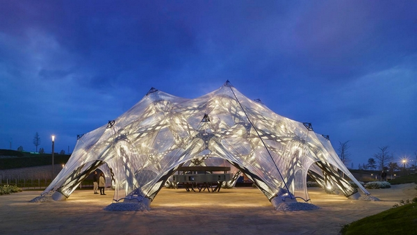 Pavilion made from ETFE