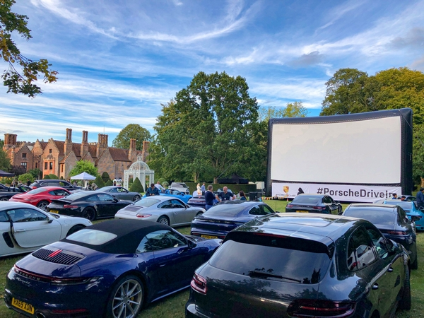 Cars at drive-in cinema