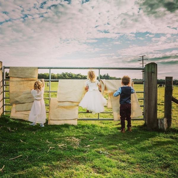 Children climbing gate at Chilli Barn