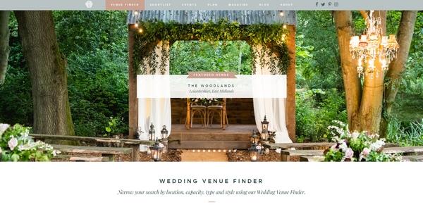 Wedding website banner