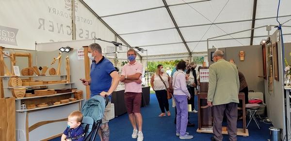 People attending Hever Fair