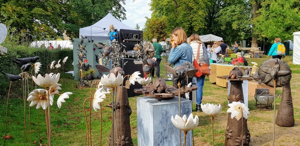 Craft stands at Hever Fair