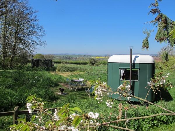 Caravan set in the countryside