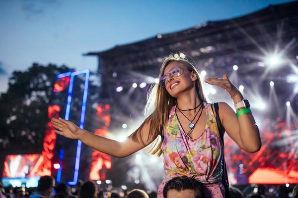Girl attending festival