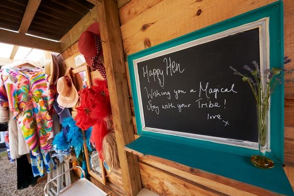 Chalkboard with message written on it