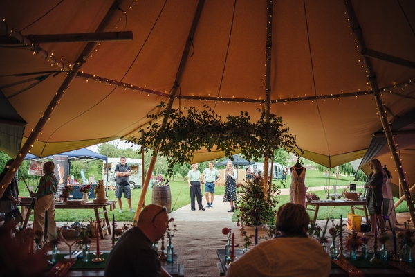 Wedding event in a tipi