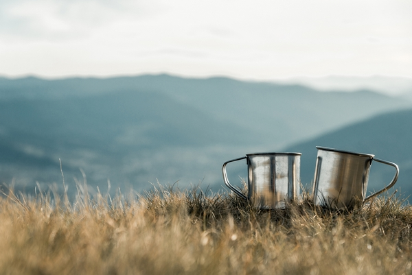 Cups on a hill