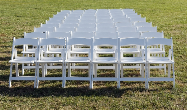Chairs set up for an event