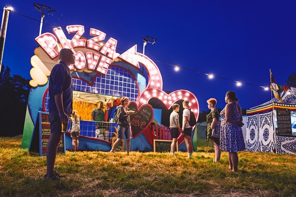 ALSO festival neon signs
