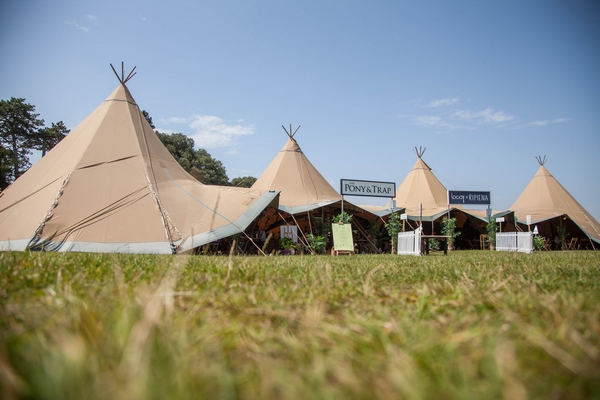 Tipis in a row
