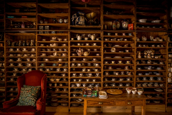 Wall of teacups at Mount Druid