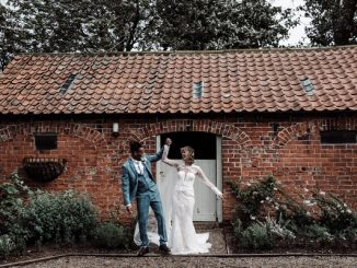 Married couple at Sedgewell Barn