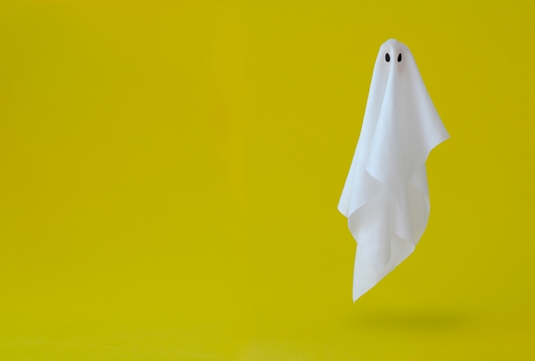 Ghost made out of a sheet