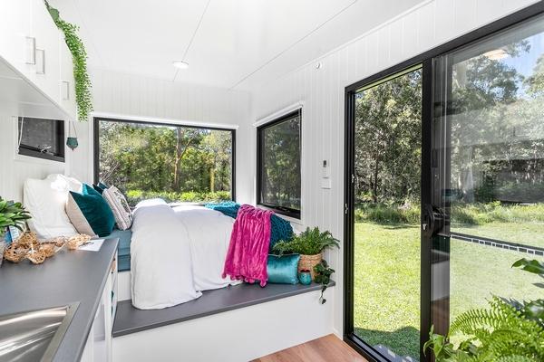 The Qube tiny homes interior