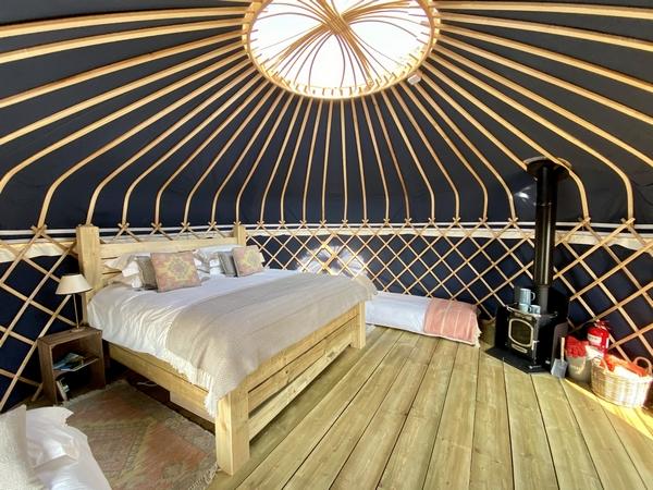 Raynham Estate yurt interior