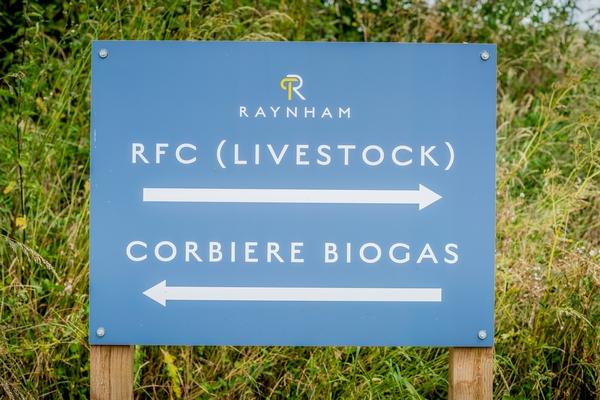 Raynham Estate signage