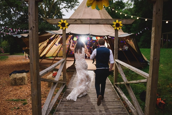 Married couple at Yurtcamp Devon