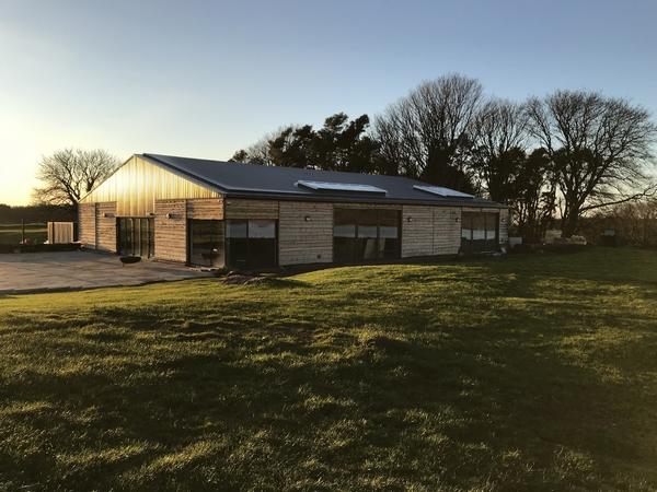 Cairns Farm Estate building at sunrise
