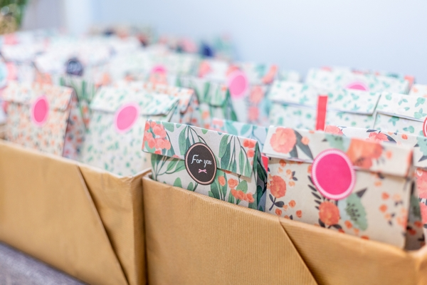 Gift bags at an event