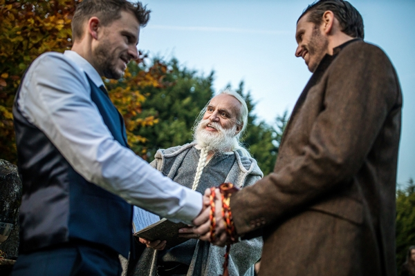 Couple getting married in the village of Dode
