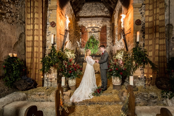 Wedding taking place in the chapel at the village of Dode