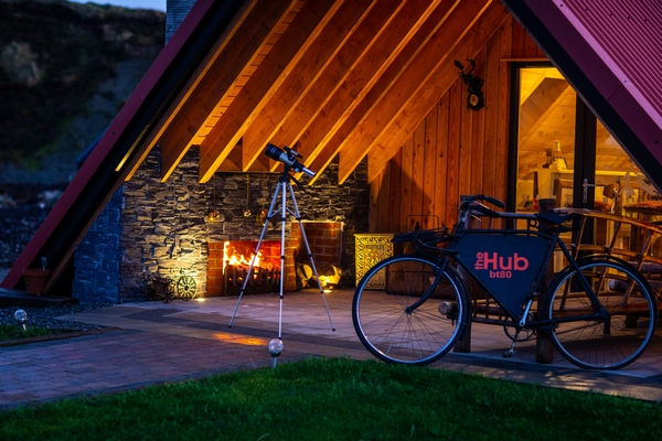 Sperrin View Glamping bicycle outside accommodation