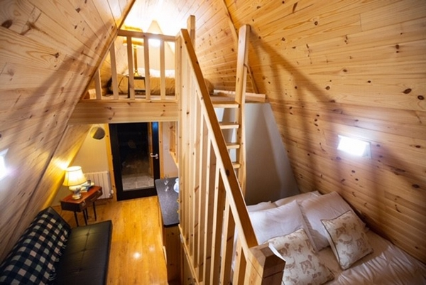 Sperrin View Glamping accommodation interior