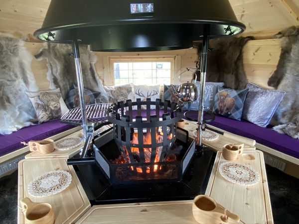 Hedgerow fire pit