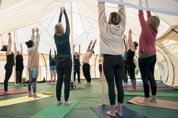 Lawrenny Estate yoga class