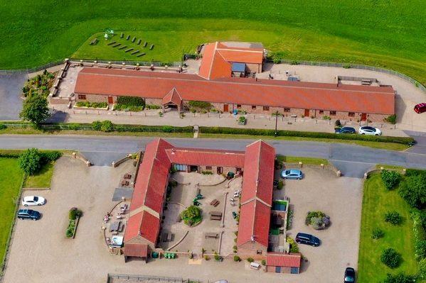 Thief Hall aerial shot