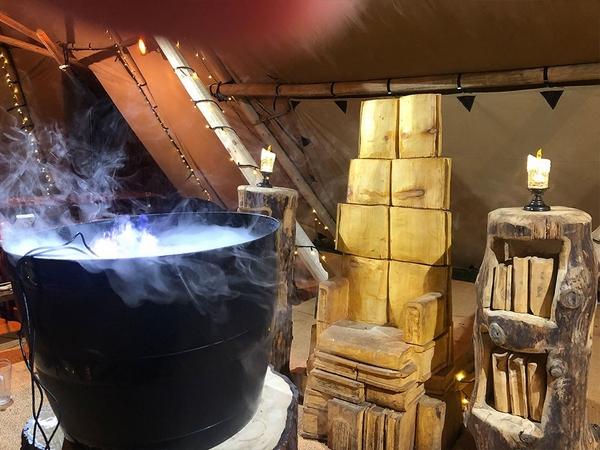 Believe Christmas cauldron